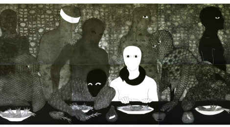 Belkis Ayón, La cena (The Supper), 1991. Collograph. Collection of the Belkis Ayón Estate.