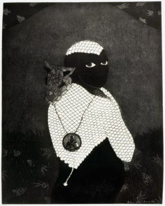 Belkis Ayón, Sin título (Sikán con chivo) (Untitled (Sikán with Goat)), 1993. Collograph. Collection of the Belkis Ayón Estate.
