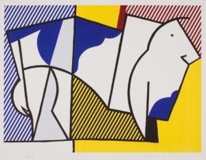 Roy Lichtenstein, Bull III, from Bull Profile Series, 1973. Collection of the Jordan Schnitzer Family Foundation. ©Estate of Roy Lichtenstein / Gemini G.E.L.