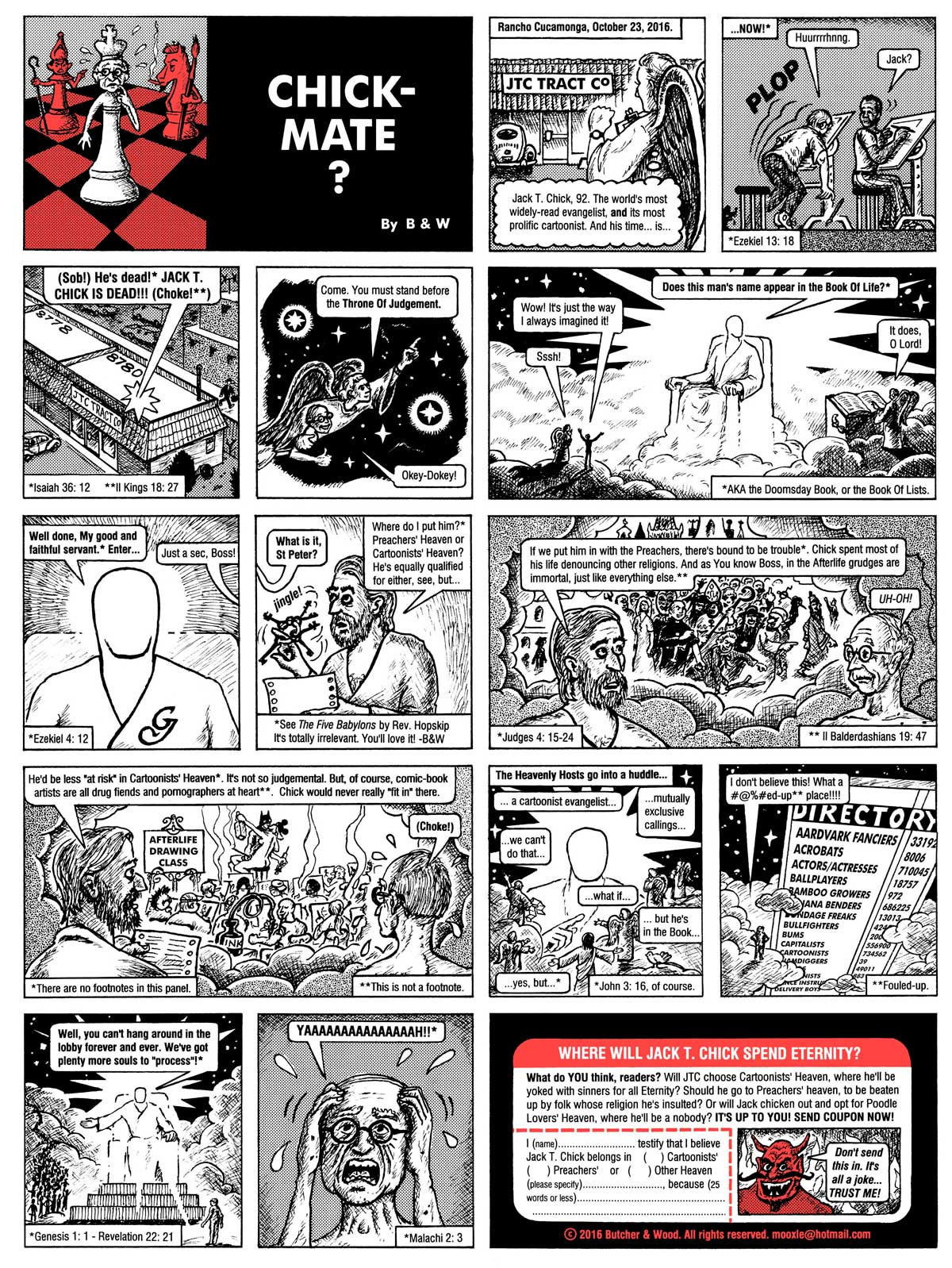 COMIX DEAD OR ALIVE: Jack T. Chick