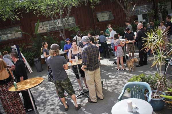 Santa Fe Art Colony courtyard gathering.