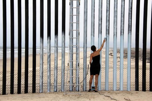 Video stills from Erasing the Border (Borrando la Frontera), 2012