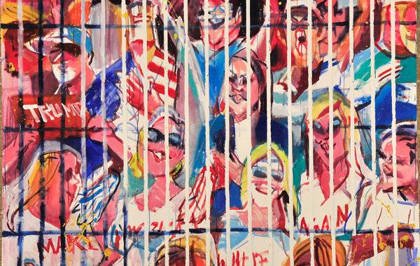 Mauricio Cárdenas,  Make America White Again, acrylic on canvas, 2017