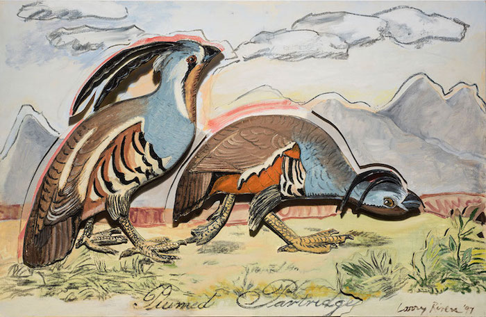 Plumed Partridge 1997 web copy Birds of America | Explorations of Audubon: The Paintings of Larry Rivers and others
