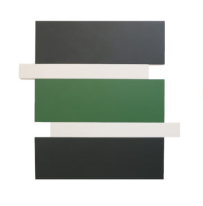 Scot Heywood Stack Black Green White 2016 acrylic on canvas Image Courtesy of the Artist and Peter Blake Gal 295x300 <h6 class=sub>Peter Blake Gallery: </h6><h1 class=post title entry title>Scot Heywood</h1>