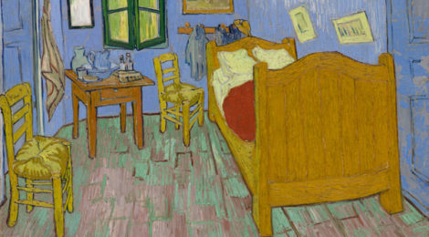 Vincent van Gogh (Dutch, 1853–1890), The Bedroom, 1889, The Art Institute of Chicago, Helen Birch Bart­lett Memo­rial Col­lec­tion.