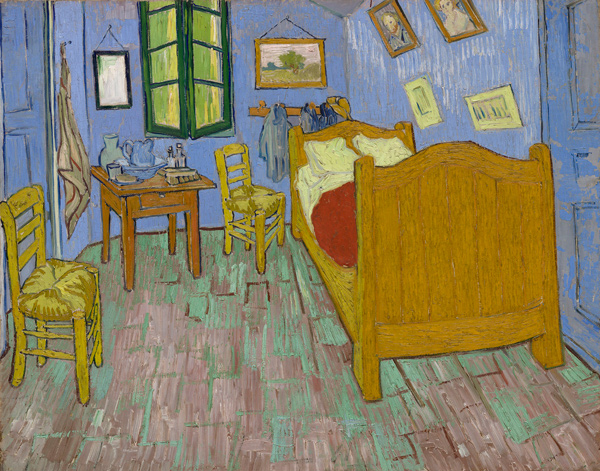 Vincent van Gogh (Dutch, 1853–1890), The Bedroom, 1889, The Art Institute of Chicago, Helen Birch Bartlett Memorial Collection.