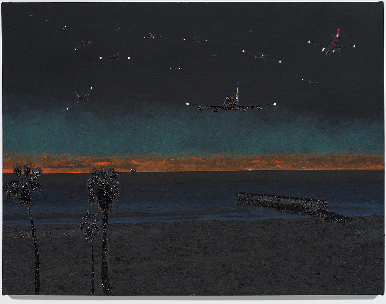 Cole Case, Vista Del Mar Nocturne (2016), courtesy of the artist and Chimento Contemporary.