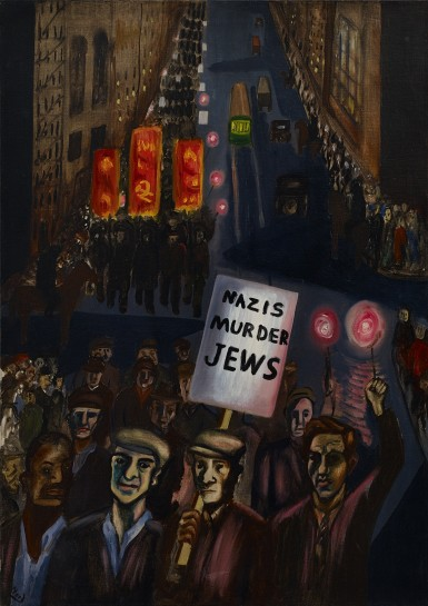 Alice Neel, Nazis  Murder Jews, 1936