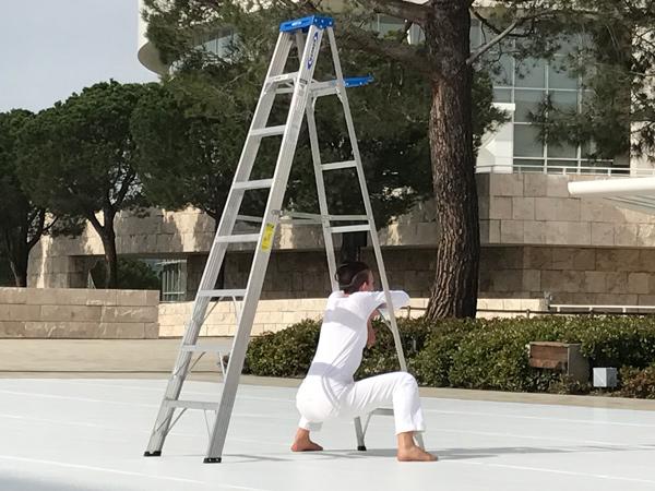 dancer ladder The Trisha Brown Dance Company's In Plain Site