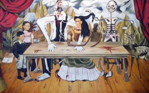wounded table 300x188 Short Takes: Another Mystery Involving a Russian Ambassador; Renaissance Geometry;  Tim Hawkinson & More