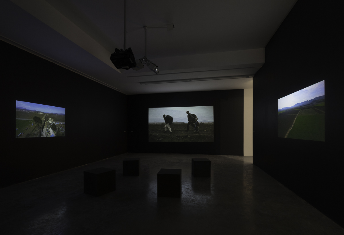 It is obvious from the map. Installation view at REDCAT, Los Angeles. Photo: Brica Wilcox