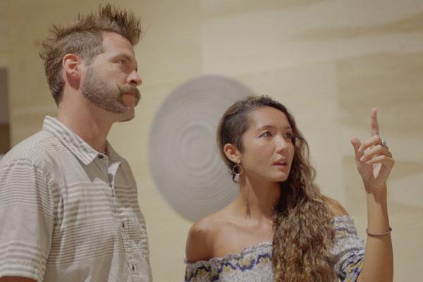 Brooke Mahnken and Oriana Fettuccine Honolulu Biennial