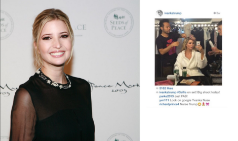Ivanka Trump with her Richard Prince piece.