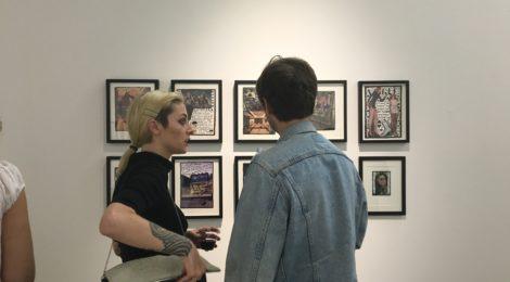 Engaged gallerygoers