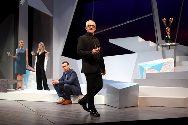 Susannah Schulman Rogers, Annie Abrams, Aubrey Deeker and Danny Scheie in South Coast Repertory's 2017 production of The Monster Builder by Amy Freed. Photo by Debora Robinson/SCR.