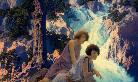 Maxfield Parrish  1870-1966), Waterfall, c. 1930
