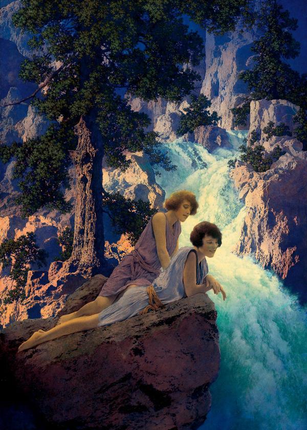 Maxfield Parrish  1870-1966), Waterfall, c. 1930