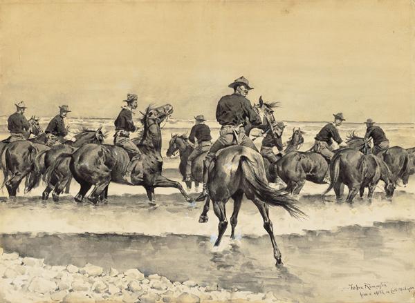 remington watering the texas horses Fabulous Tales