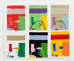 MC 6 Paintings Same Composition 4 Hues MC Different Titles After Corbusier2017 14 x 17 in e reduced Events