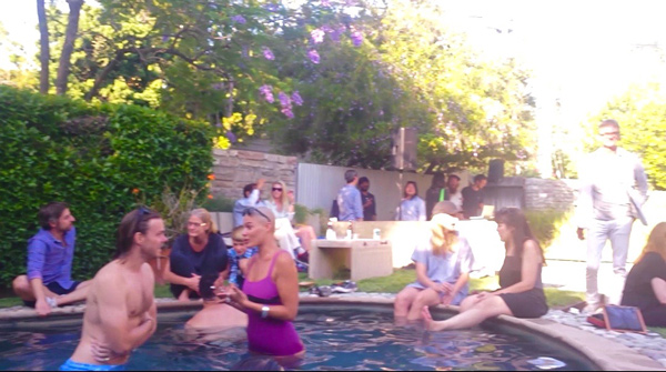 pool swimmers Cooling Off at the Coolest Pool Party
