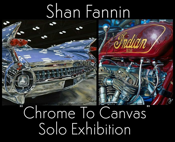 rsz chrome to canvas solo show shan fannin Chrome to Canvas   A Solo Art Exhibition by Realist Vehicle Painter, Shan Fannin