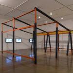 Estudio Teddy Cruz + Forman, Mecalux Retro-fit: Framework for Incremental Housing, installation view, 2017, ©Estudio Teddy Cruz + Forman, courtesy of the artists and OCMA