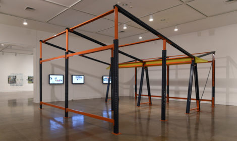 Estudio Teddy Cruz + Forman, Mecalux Retro-fit: Framework for Incremental Housing, installation view, 2017, ©Estudio Teddy Cruz + Forman, courtesy of the artists and OCMA