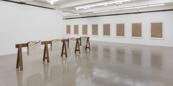 "Analia Saban, ""Folds and Faults,"" installation view. © Analia Saban. Courtesy Sprüth Magers."