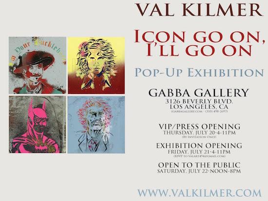 Gabba INVITEsmall Val Kilmer Pop Up Icon Go On, Ill Go On