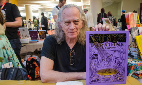 Panter with his new book, photo by Jody Culkin.