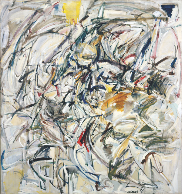 Joan Mitchell Untitled. 1952­53 Oil paint on canvas. 64 x 60 in. Collection of the Joan Mitchell Foundation New York. Estate of Joan Mitchell Women of Abstract Expressionism