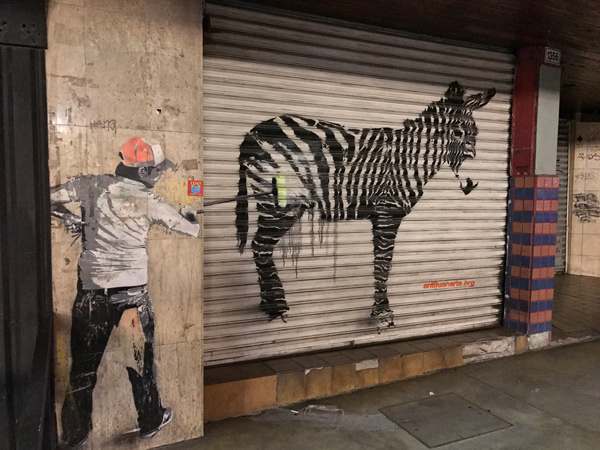 Opening Image Guy Painting Donkey South of the Border Down Tijuana Way
