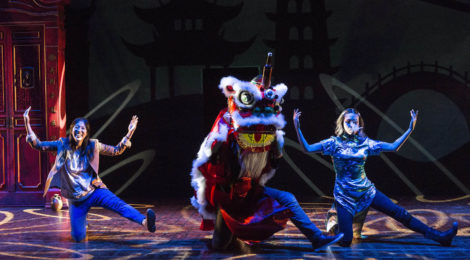 """L-R: Stephenie Soohyun Park and Angela Lin in the world premiere production of """"King of the Yees."""" Photo by Craig Schwartz."""