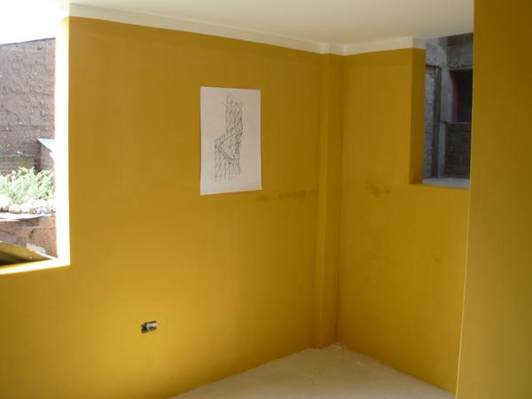 cornejo yellow wall Conceptual Museum: Cesar Cornejo