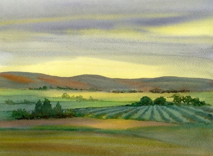 Debbie Abshear Oh Those California Hills The Sky is the Limit: Watercolor Workshop