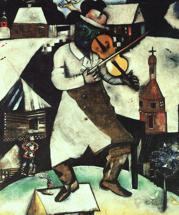 Image Chagall Fiddler Day Trip to tour Chagall: Fantasies for the Stage