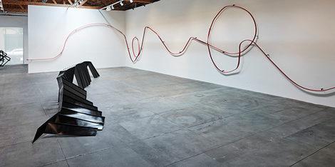 'Monika Sosnowska' installation view. © Monika Sosnowska. Courtesy of the artist and Hauser & Wirth. Photo: Mario de Lopez.