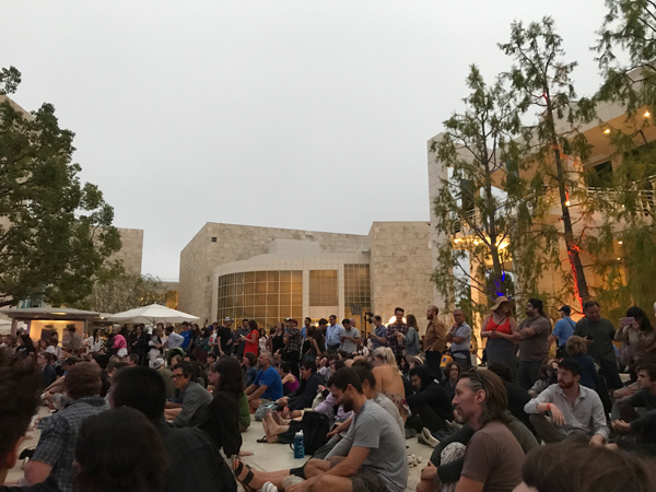 crowd Steve Gunn at the Getty Center