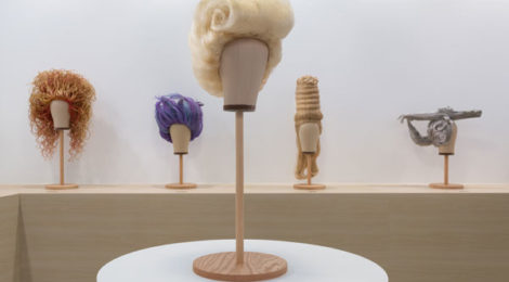 Jim Shaw, The Wig Museum, installation view at the Marciano Art Foundation, 2017, photo by Robert Wedemeyer, courtesy Marciano Art Foundation
