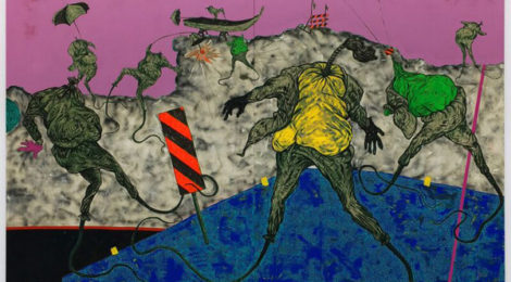 Simphiwe Ndzube, The Underwater People (2017), courtesy of the artist and Nicodim Gallery.