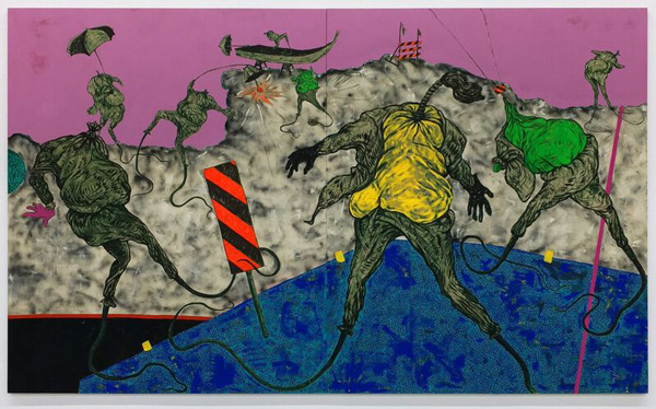 Simphiwe Ndzube, The Underwater People (2017), courtesy of the artist and Nicodim Gallery.