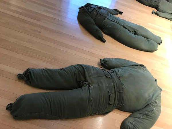 body bags Protest in Poetry at L.A. Louver