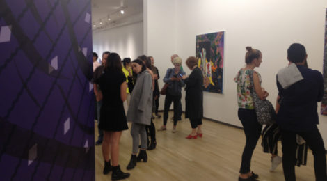 Gallerygoers at Shulamit Nazarian gallery