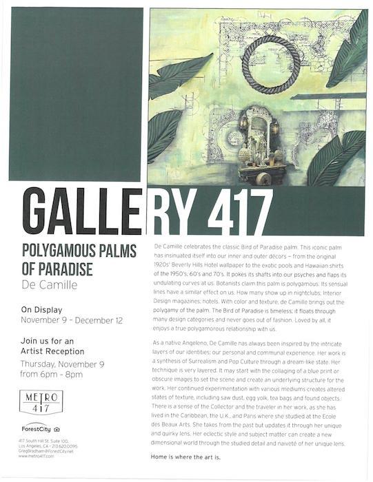 Artist Flyer De Camille Nov 2017 JPEG Events
