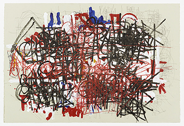 DMI131 Dan Miller Untitled 2014 Acrylic and ink on paper 30x44.6 inches courtesy Diane Rosenstein Gallery Events