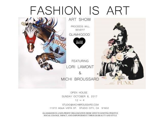 Fashion Is Art Invitation SUNDAY OPEN HOUSE 2 Fashion is Art   Pop up Gallery Event