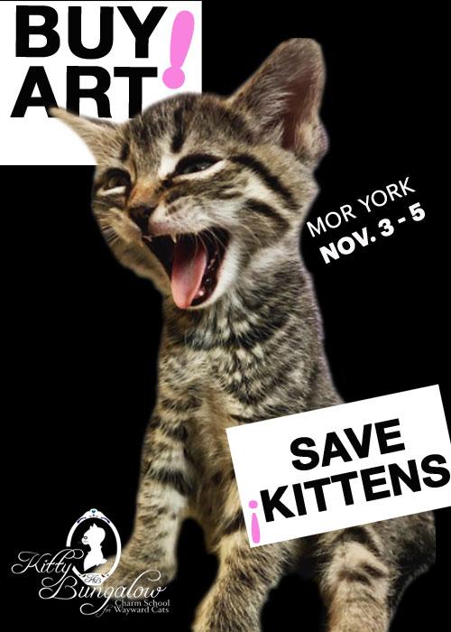KB Art 700 BUY ART! SAVE KITTENS! Kitty Bungalow Art Fundraiser