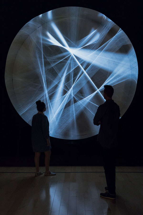 Installation view of Julio Le Parc's Continuel-lumiére avec formes en contorsion, 1966/2012, photo by Lance Gerber, courtesy Palm Springs Art Museum.