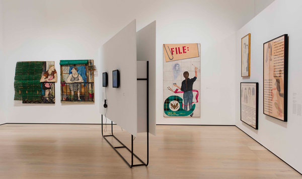 """installation view, """"Social Places"""" theme. Hammer Museum, Los Angeles, Photo: Brian Forrest."""